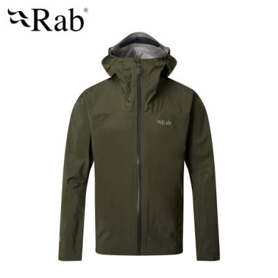 【RAB】Meridian Jacket 連帽防水外套 男款 軍綠 #QWG44