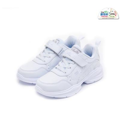 FILA KIDS 大童MD輕量慢跑鞋-白色 3-J409U-111