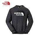The North Face北面男女通用款灰色羅紋長袖上衣 3L6UDYZ