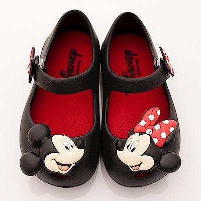 迪士尼童鞋 米妮不對稱娃娃鞋款 ON17007黑(小童段)