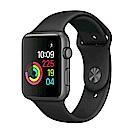 【福利品】Apple Watch (第一代) 不鏽鋼錶殼搭黑色運動型錶帶-42mm