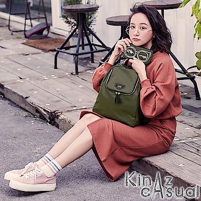KINAZ casual 一見鍾情兩用後背包-自信墨綠-墨鏡系列