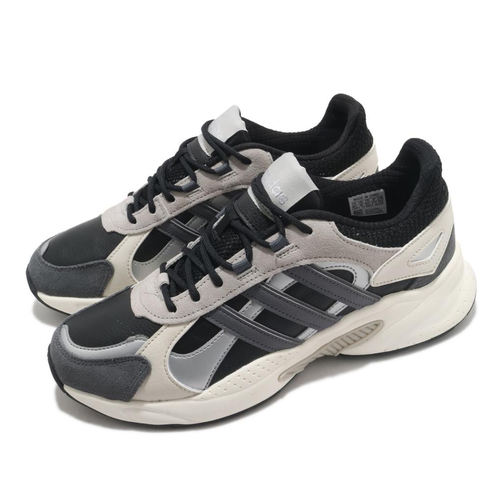 adidas 慢跑鞋 Crazychaos Shadow 男鞋 愛迪達 路跑 緩震 透氣 球鞋穿搭 灰 米 FX9109