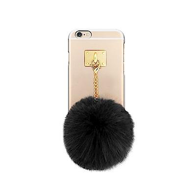 DDPOP iPhone 6/6S 韓流明星手機殼 療癒毛球吊飾款
