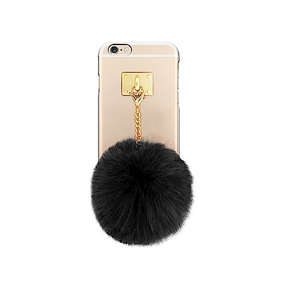 DDPOP iPhone 6/6S Plus 韓流明星手機殼 療癒毛球吊飾款