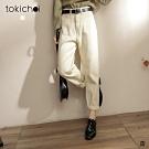 東京著衣 IG韓妞都在穿的附腰帶奶油長褲-S.M.L
