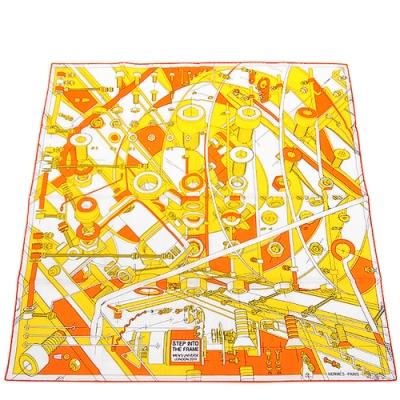 HERMES愛馬仕 男士純棉造型領巾-65公分