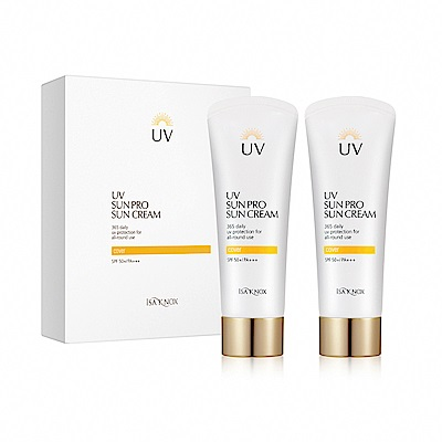 ISA KNOX伊莎諾絲 365高效潤色UV防曬乳70ML*2