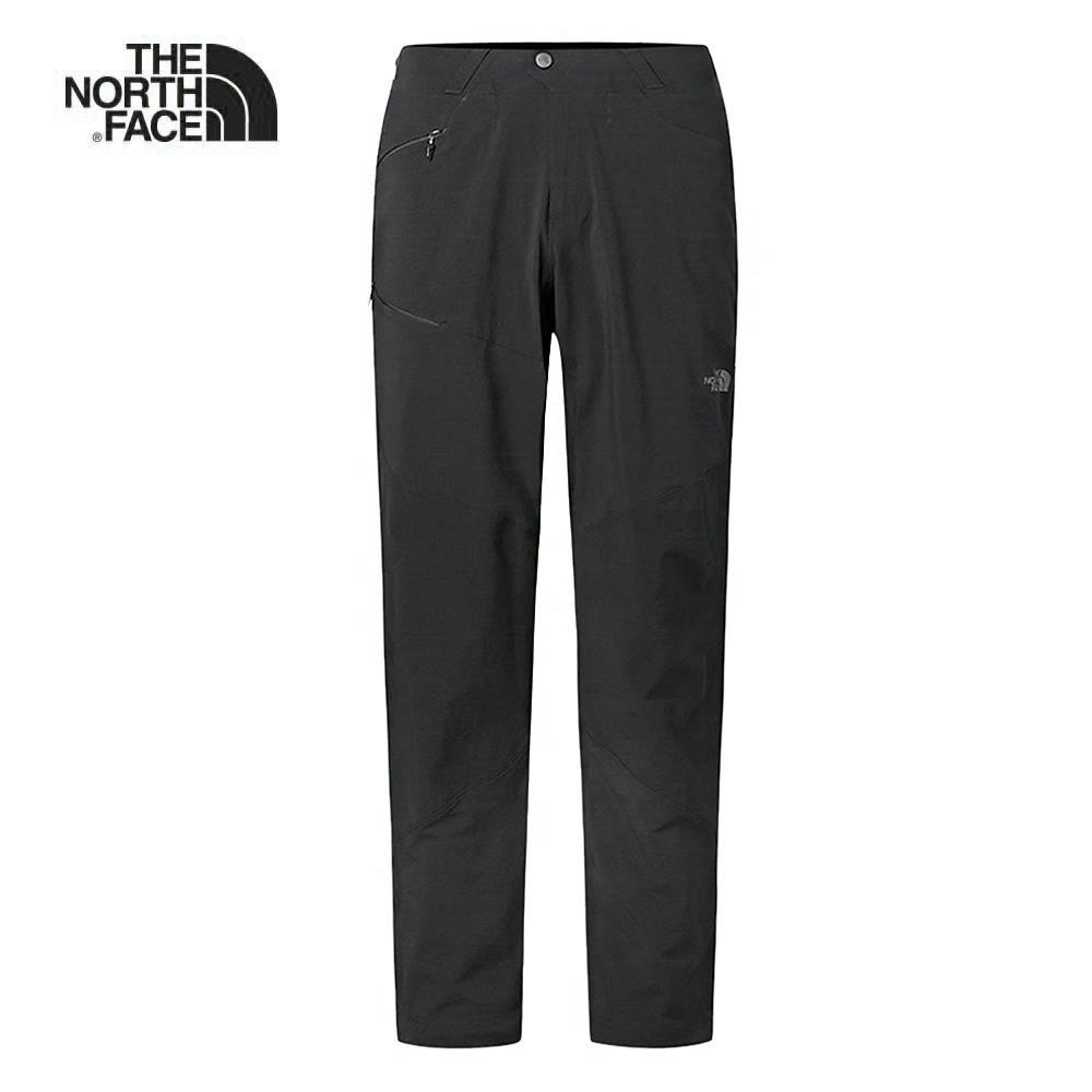 The North Face北面男款黑色防潑水登山長褲|3CH2KX7