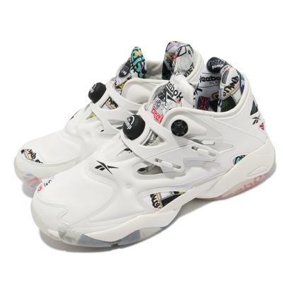 Reebok 休閒鞋 Pump Court 襪套 運動 男鞋 海外限定 舒適 避震 充氣科技 穿搭 米白 黑 FW7828