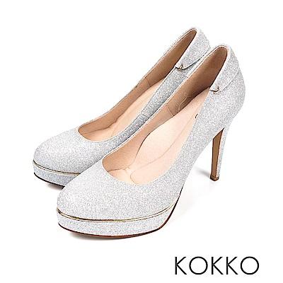 KOKKO - 女王的盛宴炫燦手工超高跟鞋-閃耀銀