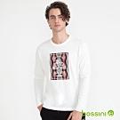 bossini男裝-印花長袖T恤06灰白