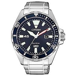 CITIZEN星辰 光動能水上運動風格腕錶(BM7450-81L)-銀x藍/43.5mm