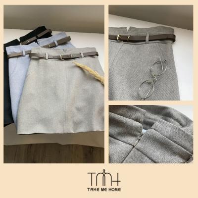 韓版造型短裙(贈皮帶)-TMH