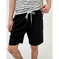 CACO-羅紋配色短棉褲-情侶款-(三色)-男【SAR014】