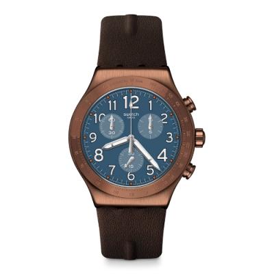 Swatch 金屬系列手錶 BACK TO COPPER 一銅冒險-43mm