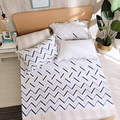 鴻宇 雙人床包枕套組 天絲300織 奧斯卡 台灣製