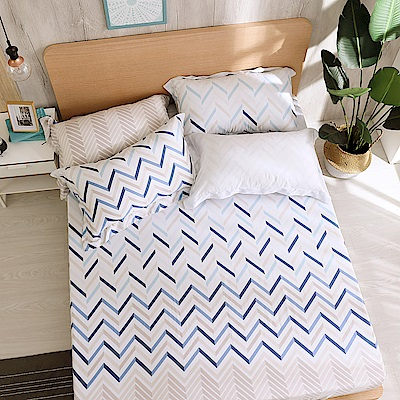 鴻宇 雙人加大床包枕套組 天絲300織 奧斯卡 台灣製