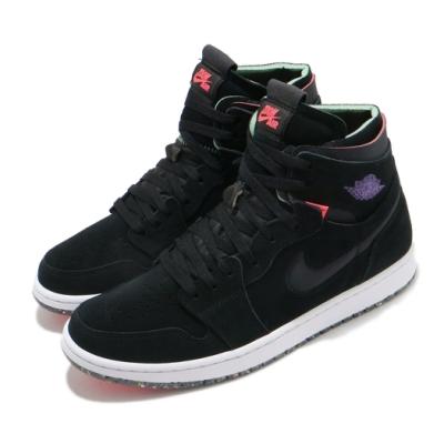 Nike 籃球鞋 AJ1 Zoom Air CMFT 男鞋 氣墊 避震 包覆 喬丹一代 穿搭 黑 紫 CT0978005