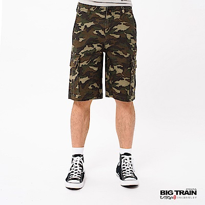 BIG TRAIN 彈性迷彩休閒短褲-男-迷彩