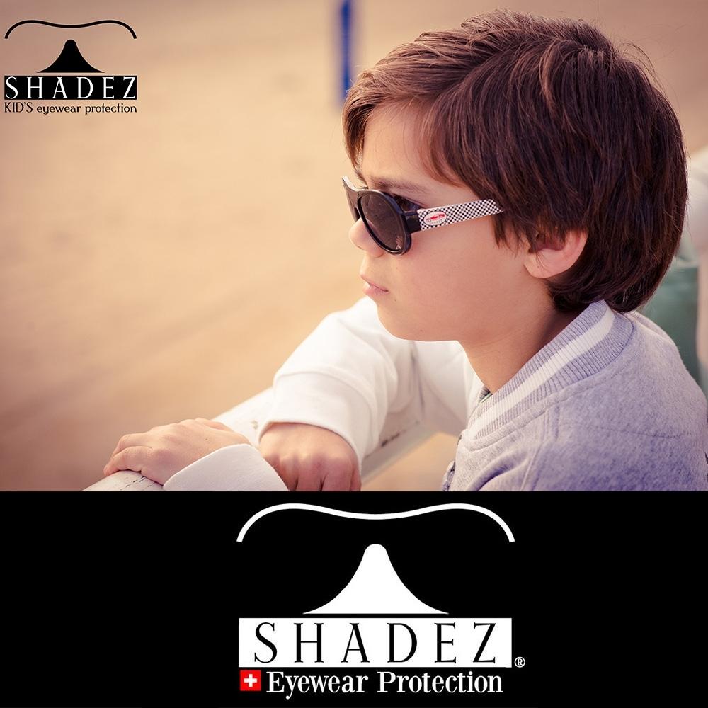 【瑞士SHADEZ】兒童太陽眼鏡 黑色賽車 3-7歲