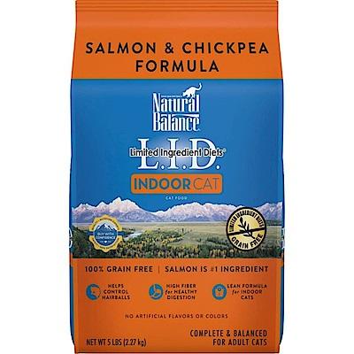 Natural Balance 低敏無穀鷹嘴豆鮭魚全貓配方 5磅