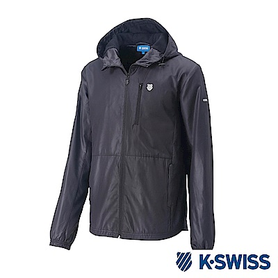 K-Swiss Solid Windbreaker F1刷毛風衣外套-女-黑