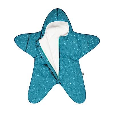 【小海星輕量版-土耳其綠 】鯊魚咬一口BabyBites純棉嬰幼兒睡袋