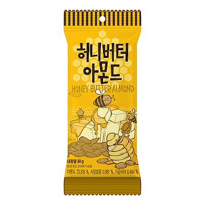 韓國Toms Gilim杏仁果-蜂蜜奶油味30g
