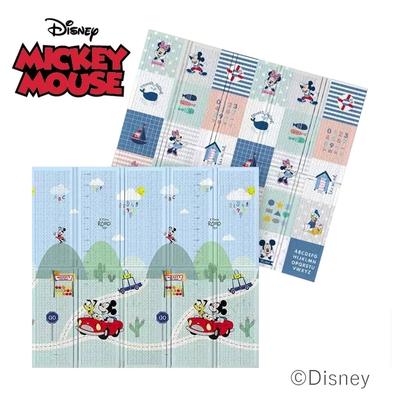 【Disney 迪士尼】攜帶型1.5CM摺疊遊戲墊- 米奇歡樂頌+米奇樂園