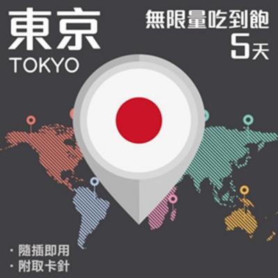 【PEKO】東京上網卡 5日高速4G上網 無限量吃到飽 優良品質高評價