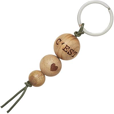 《RADER》楠木球鑰匙圈(人生)