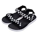 (男)VANS TRI-LOCK 棋盤格織帶涼鞋*黑色