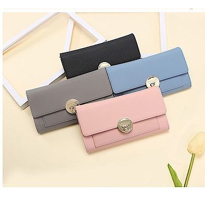 leaper 多功能金屬搭扣可背手拿包手機包錢包 共4色