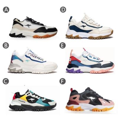 【時時樂限定】KangaROOS 男女 越野老爹鞋(6款任選)