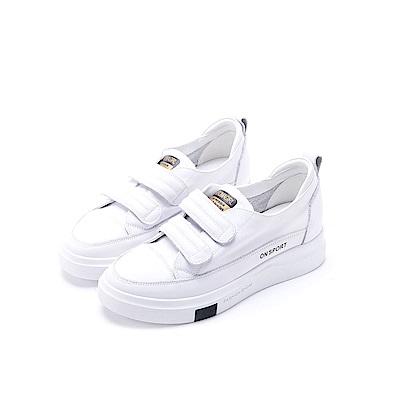 nonno 諾諾 純色時尚簡單休閒鞋 白