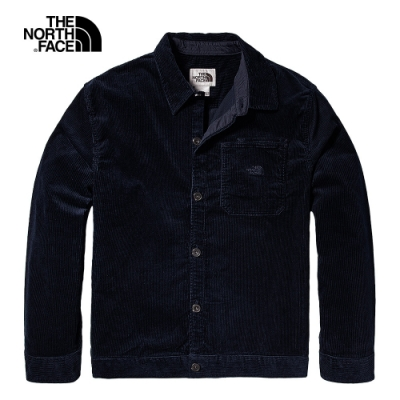 The North Face北面男款深藍色燈芯絨長袖襯衫|4QPLRG1