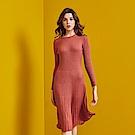 Shester55-坑條針織洋裝(兩色)-女【RSH206】