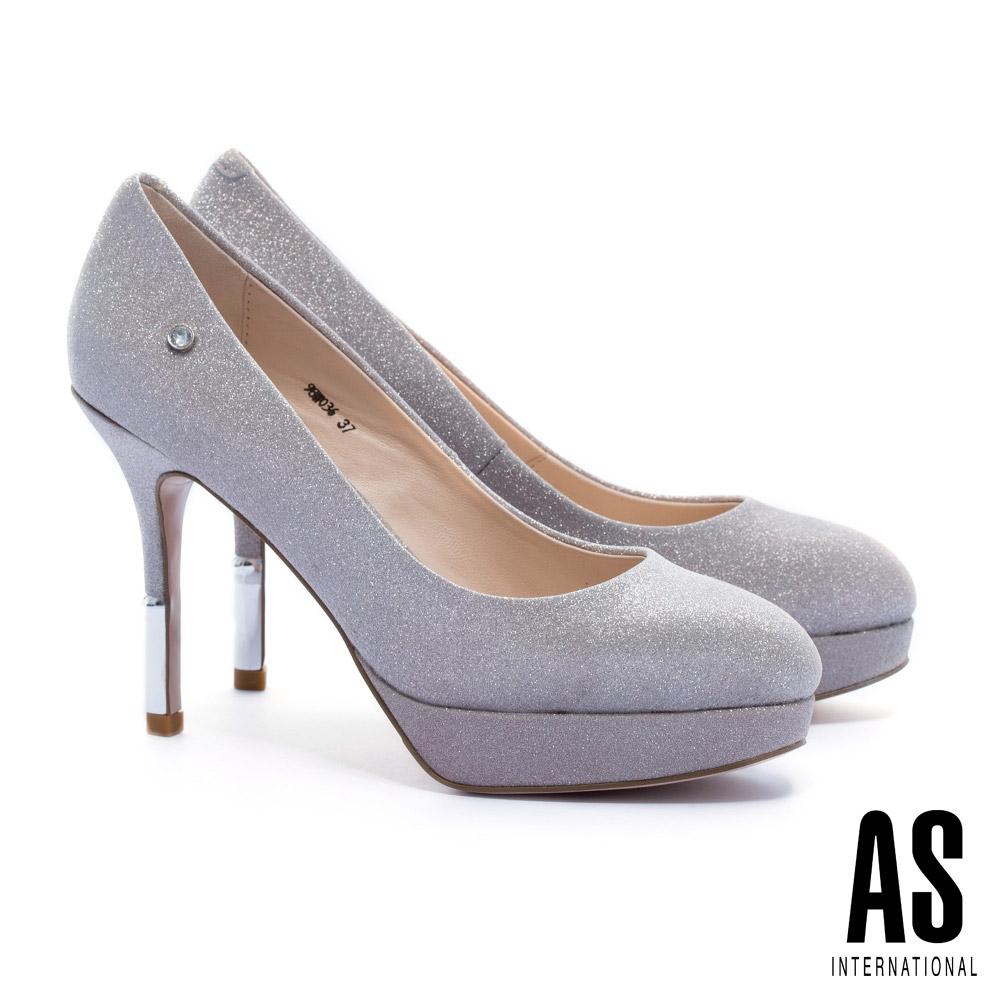 高跟鞋 AS 奢華優雅金屬跟全真皮美型尖頭高跟鞋-粉 @ Y!購物