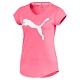 PUMA-女性訓練系列大跳豹麻花短袖T恤-糖果粉(麻花)-歐規 product thumbnail 1