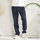 Nautica經典彈性合身直筒褲-藍色