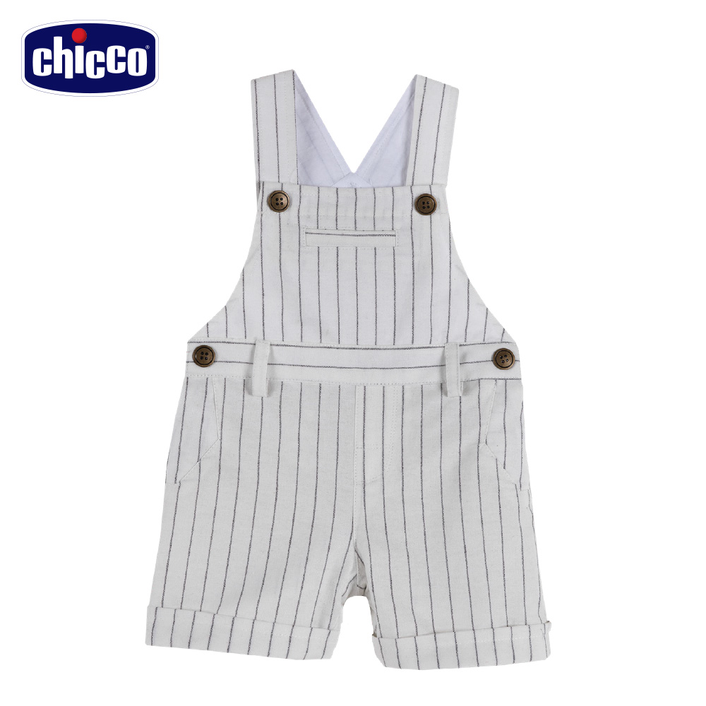 chicco-可可熊-條紋吊帶短褲 product image 1