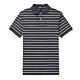Polo Ralph Lauren 年度熱銷刺繡彩小馬吸濕排汗短袖POLO衫(CUSTOMSLIM)-深灰條紋色 product thumbnail 1