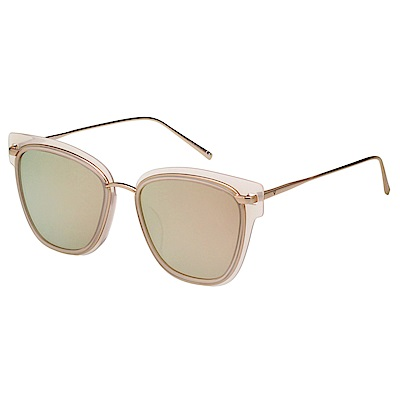 VEDI VERO 個性 水銀面 太陽眼鏡 (粉色配玫瑰金)VE717