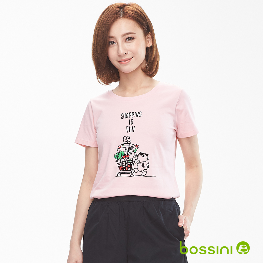 bossini女裝-印花短袖T恤04橘