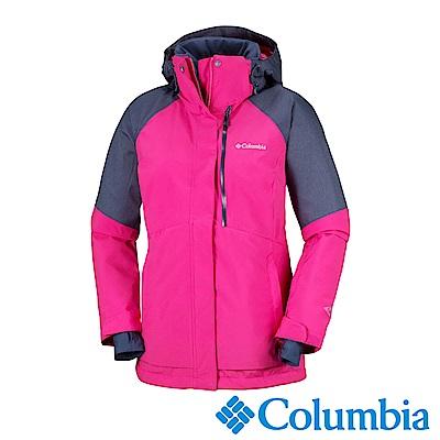 Columbia哥倫比亞 女款-Omni-HEAT鋁點保暖防水連帽外套-桃紅