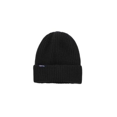 NAVY-夾標粗針款毛帽(四色)-男【UNA051】