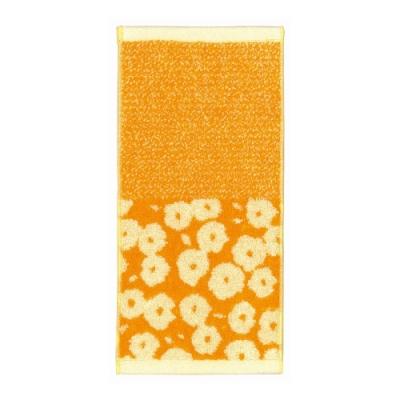 日本派迪 今治吸水速乾長方巾-橘色小花