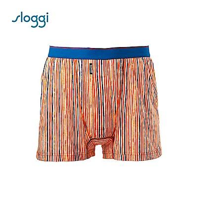sloggi men 寬鬆系列Painter針織平口褲 桔紅