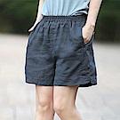 初色  純色棉麻短褲-共7色-(F可選)